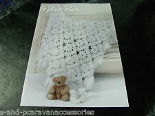 Peter Pan One Size Crochet Shawl and Bootees Pattern P1276