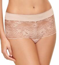 NWT WACOAL PANTY 7- LARGE #845252 FIRE & LACE HIPSTER, MAHOGANY ROSE retail $28