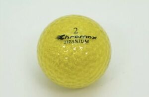 New Chromax Titanium Metallic IIx M2x Colored 3 Dozen 36 Golf Balls Gold Loose