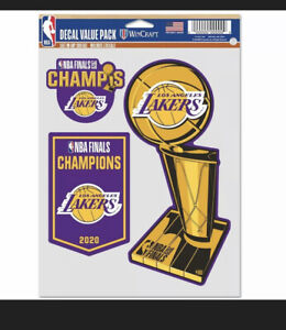LOS ANGELES LAKERS WINCRAFT 2020 NBA FINALS CHAMPIONS 5'' X 7'' FAN DECAL 3-PACK