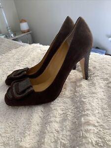 NWOB Max Studio Brown Suede Pumps High Heel Beautiful Shoe Size 9