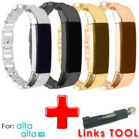 Stainless Steel Replacement Spare Band Strap  for Fitbit Alta/Alta HR