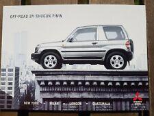 Mitsubishi Shogun Pinin Off-Road 4x4 Original Manufacturers Advertising Postcard