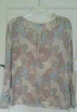 Women HENNES - H&M Multicolour Design Loose Tops Blouse Long Sleeve UK 10 EUR 38