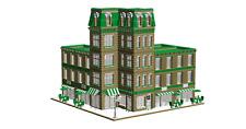 Lego Custom Instruction CORNER HOUSE ( instruction only)
