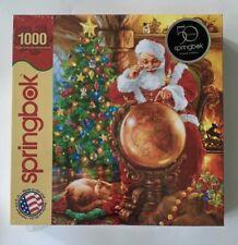Springbok Joy Around The World 1000 Pc. Jigsaw Puzzle Santa Claus W/ Globe Tree