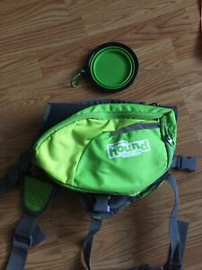 Outward Hound Daypack large dog backpack convertible NWOT Green breathable