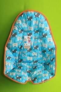 The seat pad cover for highchair for feeding Bloom Fresco.