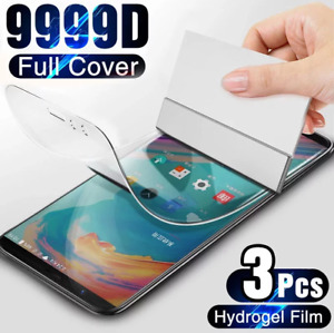 3Pcs Protective Hydrogel Film Screen Protector Cover For OnePlus 7T 6T 5T 8T Pro