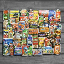 50Pcs/Lot Funny Snacks And Drinks Graffiti Stickers For Laptop Notebook Car P…