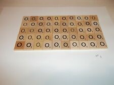 """Vintage Wooden Scrabble Tiles  50 """"o"""" Tiles  #1 With FREE Shipping!"""