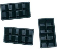 3x XXXL Silikon Eiswürfelform für 8 Eiswürfel 5x5cm 8-Fach Erfrischung Eisform