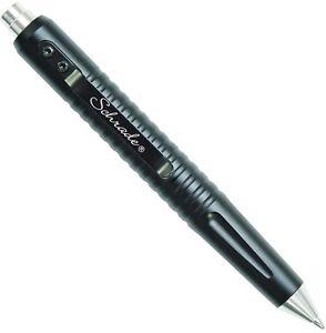Schrade Tactical Push Button Pen Black CNC Machined 6061 T6 Aluminum SCPEN9BK