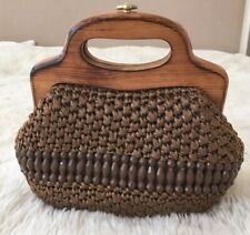 Glamorous straw bag/clutch, vintage