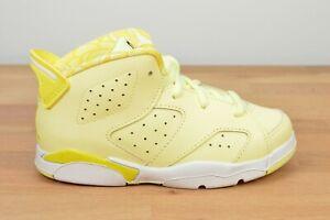 NEW Air Jordan 6 Retro Dynamic Yellow Floral (TD) 645127 800 White
