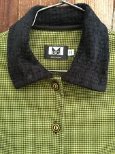 M MADE IN ITALY BOUTIQUE DESIGNER Pleated PLAID MINI DRESS 12 ANNI Size Small