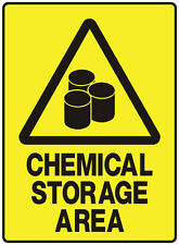 """Safety Sign """"CHEMICAL STORAGE AREA 5mm corflute 300MM X 225MM"""""""