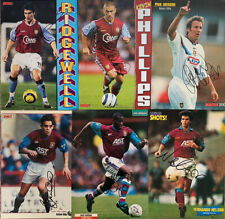 More details for 6 x aston villa signed a4 magazine pictures