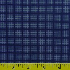 AMERICAN BEAUTIES cotton fabric for sewing and quilting PURPLE/BLUE  PLAID