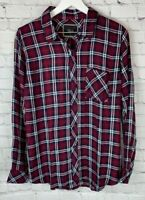NWT RAILS Womens' Burgundy Black Plaid Long Sleeve Shirt Size Medium