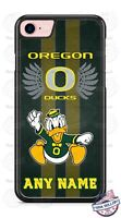 Customized Oregon Ducks Tread Phone Case with name for iPhone Samsung LG HTC etc