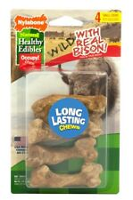 Nylabone Healthy Edibles Wild Bison Flavor Bone Small 4 count | Treats for Dogs