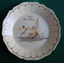 Antique French Revolution Faience Plate Vive La Nation Support Monarchy 1790