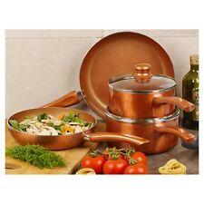4 PCS URBN-CHEF Ceramic Copper Induction Frying Pans Pots Saucepans Cookware Set