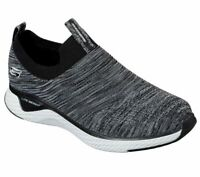Skechers Black Wide Fit Shoes Men Comfort Soft Slip On Casual Memory Foam 52759