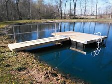 """POND SPECIAL!!! 8' x 12' Dock/Ramp/Rail/Ladder With """"Permafloat""""  Floats"""