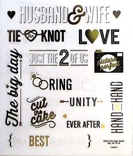 Husband & Wife Picture Perfect hand in Hand Big Day Wedding PS Clear Stickers
