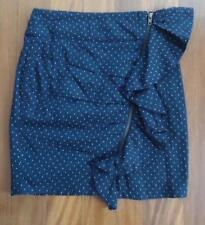 Polka Dot Machine Washable Regular 100% Cotton Skirts for Women