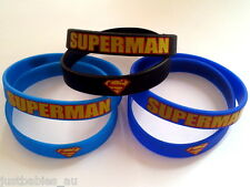 New 5x Superman Wristbands Superhero Bracelet Party Favours Loot Lolly Bag