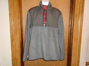 Philadelphia Phillies Men's '47 1/4 Zip Pullover Polyester/Nylon Jacket L XL NWT