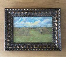 Omer Coppens, paysage à la meule de foin