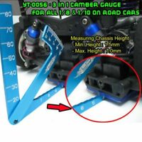 Quality 1/8 1/10 RC Car 3 in 1 Set Up Tool Chassis Suspension Wheel Camber Guage