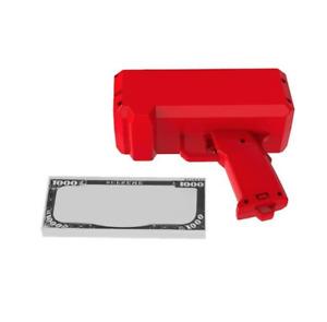 Supa Gun Make It Rain Money Gun Red Fashion Toy Party Box Gift 100PCS Cash NEW