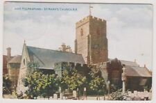 Kent postcard - Folkestone, St Marys Church N.E (A799)