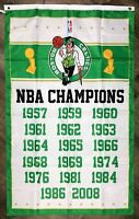 Boston Celtics NBA Championship Flag 3x5 ft Vertical Sports Banner Man-Cave Bar