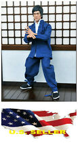 1/6 Long Sleeve blue Chinese-style Costume Bruce Lee Kung Fu suit ❶❶US seller❶❶
