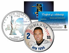 DEREK JETER New York State Quarter Colorized US Coin with Rare HOLOGRAM on back