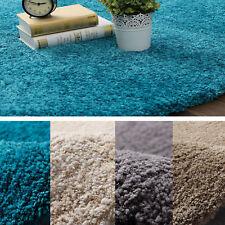 Large Shag Shaggy Floor Rug Blue Beige Grey Camel Luxurious Soft Plush Thick