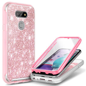 For LG Phoenix 5 Case Full Body Bumper Phone Cover + Built-In Screen Protector