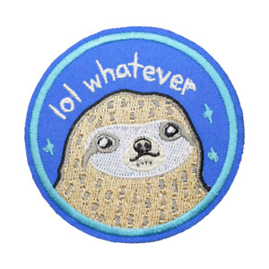 1pcs DIY Sloth Animals Sew On Iron On Patch Embroidered Badge Fabric Applique
