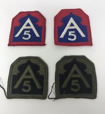 4 Vietnam Era US Army A-5 Division Military Uniform Patch
