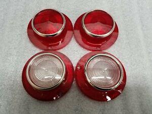 1963 Mercury Monterey Tail Light Lenses and Back up Lenses - NORS