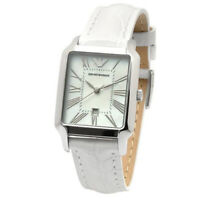 Emporio Armani AR0420 Classic Square Leather Band Women's Watch