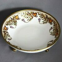 Antique Vintage Hand Painted NIPPON BOWL Dish 3 FOOTED with GOLD Green M Wreath