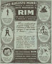 J0160 Perchè si deve preferire il RIM - Pubblicità grande formato del 1930 - Ad