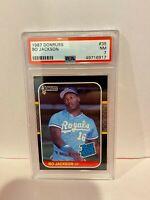 1987 Donruss Bo Jackson Kansas City Royals HOF Baseball Rookie Card PSA NM 7 #35